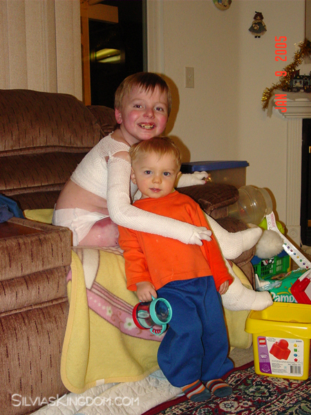 Nicky and Connor in 2005. Nicky was 9, Connor 2