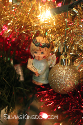The 'EB Angel' on our Christmas tree a friend sent me years ago.