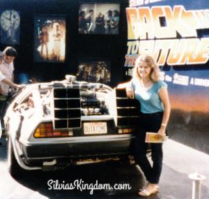 Summer 1985 - At Universal Studios (CA) with the original DeLorean