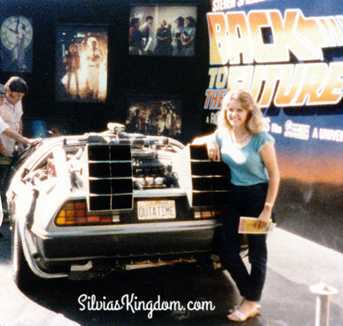Summer 1985 - At Universal Studios (CA) with the original DeLorean